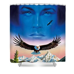 Eagle Mountain Shower Curtain by MGL Studio - Chris Hiett