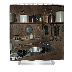 Early American Utensils Shower Curtain by Michael Peychich