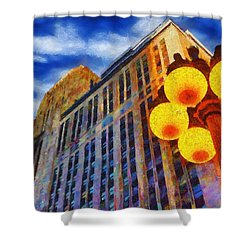 Early Evening Lights Shower Curtain by Jeff Kolker