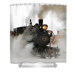 Early Morning Winter Steam Up Shower Curtain by Ken Smith