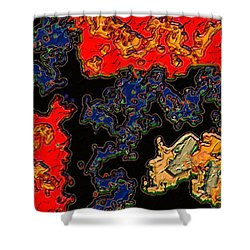 East Meets West Shower Curtain by Alec Drake