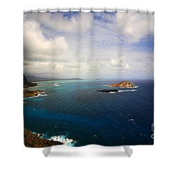 East Oahu Coastline Shower Curtain by Cheryl Young