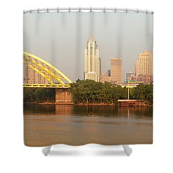 East Side Pano Shower Curtain by Keith Allen