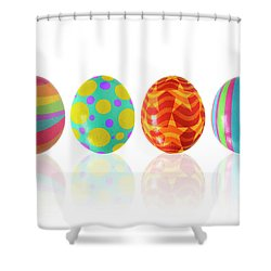 Easter Eggs Shower Curtain by Carlos Caetano