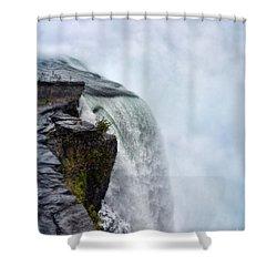 Edge Of Niagara Falls Shower Curtain by Jill Battaglia