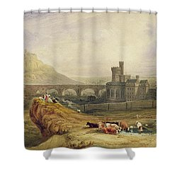 Edinburgh Shower Curtain by Thomas Brabazon Aylmer