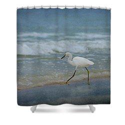 Egret Shower Curtain by Sandy Keeton
