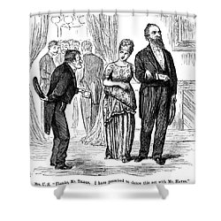 Election Cartoon, 1877 Shower Curtain by Granger