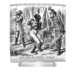 Emancipation Cartoon, 1863 Shower Curtain by Granger