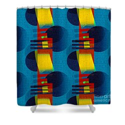 En Formes 01f Shower Curtain by Aimelle