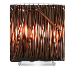 Enamel Coated Copper Wire Shower Curtain by Photo Researchers