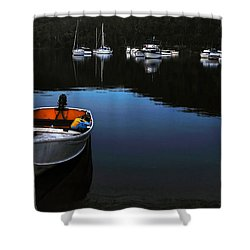 End Of A Beautiful Day Shower Curtain by Kaye Menner