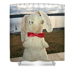 Energizer Bunny No More Shower Curtain by Kym Backland