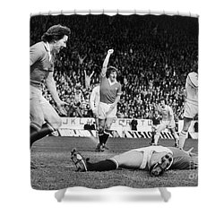 England: Soccer Game, 1977 Shower Curtain by Granger