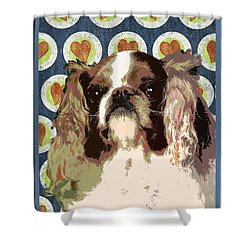 English Toy Spaniel Shower Curtain by One Rude Dawg Orcutt