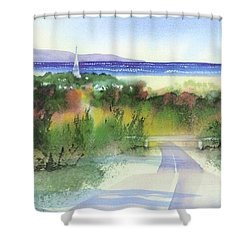 Entering Sandwich Shower Curtain by Joseph Gallant