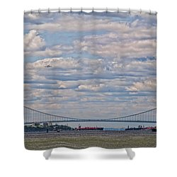 Enterprise 2 Shower Curtain by S Paul Sahm