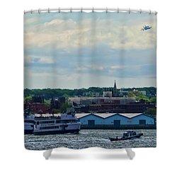 Enterprise 8 Shower Curtain by S Paul Sahm