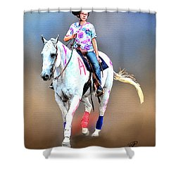 Equestrian Competition II Shower Curtain by Tom Schmidt