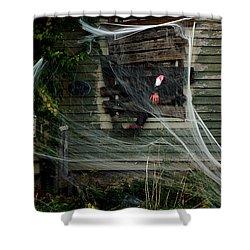Escaping The Web Shower Curtain by LeeAnn McLaneGoetz McLaneGoetzStudioLLCcom