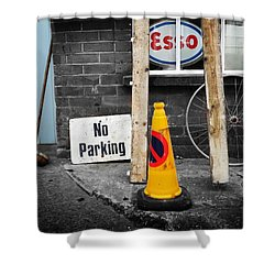 Esso Shower Curtain by Charles Stuart