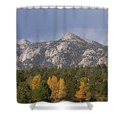 Estes Park Autumn Lake View Vertical Shower Curtain by James BO  Insogna