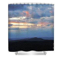Evening Sky Over The Quabbin Shower Curtain by Randi Shenkman