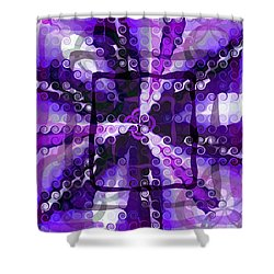 Evolve 3 Shower Curtain by Angelina Vick
