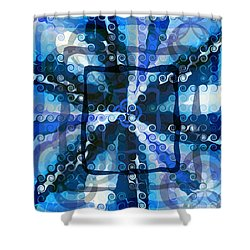 Evolve 5 Shower Curtain by Angelina Vick