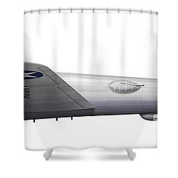 Experimental Boeing Xb-15 Bomber Shower Curtain by Chris Sandham-Bailey