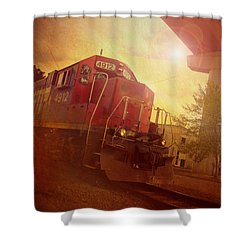 Express Train Shower Curtain by Joel Witmeyer