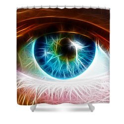 Eye Shower Curtain by Paul Van Scott