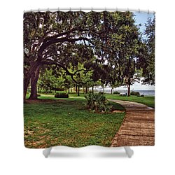 Fairhope Lower Park 2 Shower Curtain by Michael Thomas