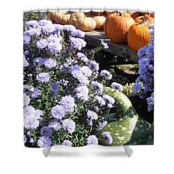 Fall Medley Shower Curtain by Kimberly Perry
