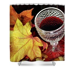 Fall Red Wine Shower Curtain by Carlos Caetano