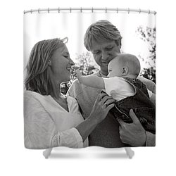Family Portrait Shower Curtain by Michelle Quance