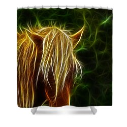 Fantasy Horse Shower Curtain by Paul Ward