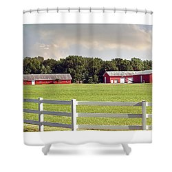 Farm Pasture Shower Curtain by Brian Wallace