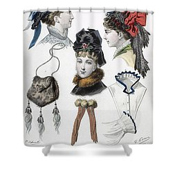 Fashion: Hats, C1875 Shower Curtain by Granger