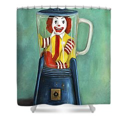 Fast Food Nightmare 2 The Happy Meal Shower Curtain by Leah Saulnier The Painting Maniac
