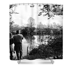 Father And Daughter - River Dee Chester Shower Curtain by Georgia Fowler