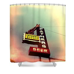 Father's Office Beer Shower Curtain by Nina Prommer