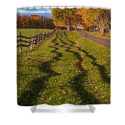 Fence Shower Curtain by Guy Whiteley