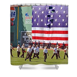 Fenway Park 100th Shower Curtain by Joann Vitali