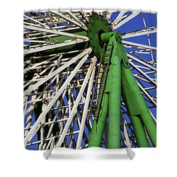 Ferris Wheel  Shower Curtain by Stelios Kleanthous