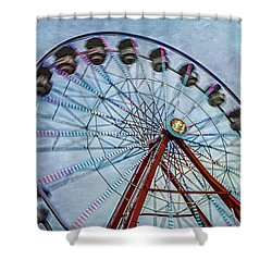 Ferris Wheel Shower Curtain by Susan Candelario