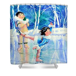 Figure Skater 15 Shower Curtain by Hanne Lore Koehler