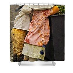 Figurines In Rural Dresses Shower Curtain by Heiko Koehrer-Wagner