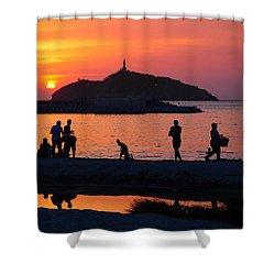 Fin De Semana Shower Curtain by Skip Hunt