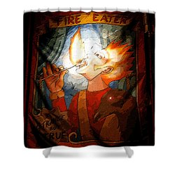 Fire Eater Shower Curtain by David Lee Thompson